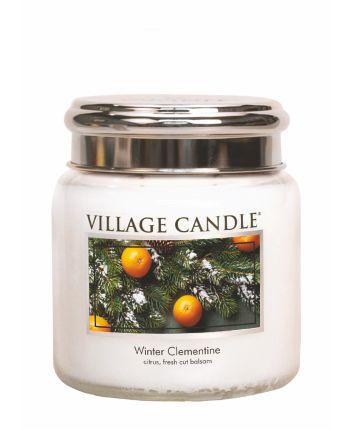Village Candle - Medium Glass Jar - Winter Clementine º*