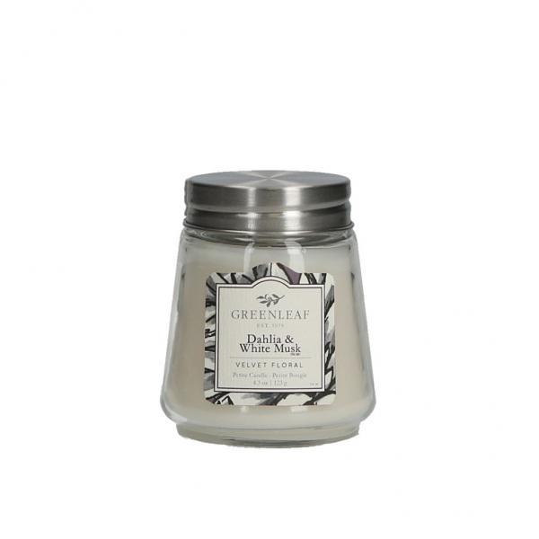Greenleaf - Duftkerze im Glas - Petite Candle - Dahlia & White Musk