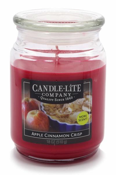 Candle-Lite Company - Große Duftkerze im Glas - Large Jar - Apple Cinnamon Crisp