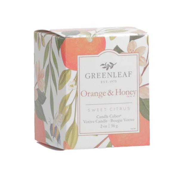 Greenleaf - Candle Cube Votivkerze - Duftkerze - Orange & Honey