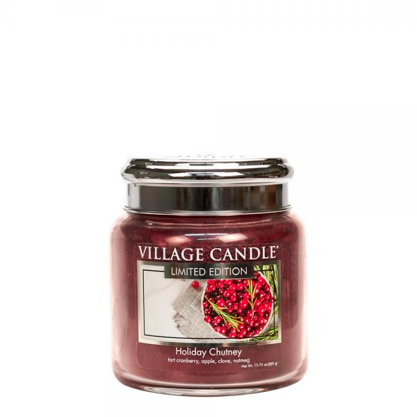 Village Candle - Medium Glass Jar - Holiday Chutney (LE)