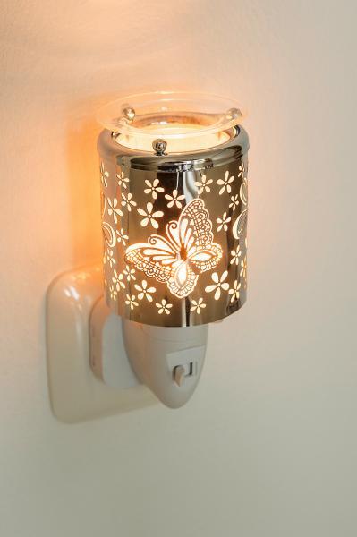 Pajoma - Elektrischer Duftstecker mit Duftschale - Metall - Schmetterling