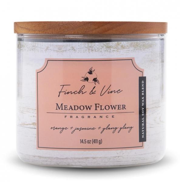 Colonial Candle - Mittlere Duftkerze im Glas - Finch & Vine - Meadow Flower