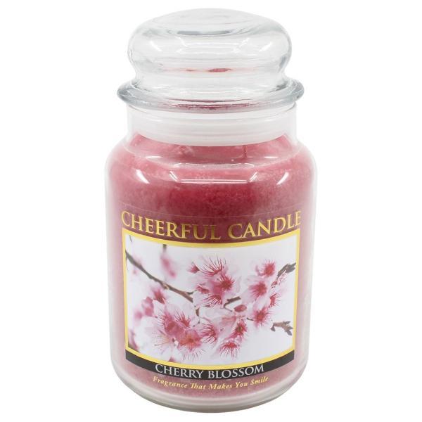 Cheerful Candle - Classic Large Jar - Duftkerze im Glas - Cherry Blossom
