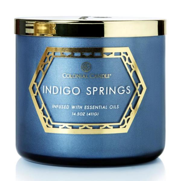 Colonial Candle - Mittlere Duftkerze im Glas - Everyday Luxe - Indogo Springs