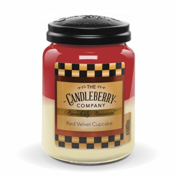 Candleberry - Duftkerze im Glas - Red Velvet Cupcake