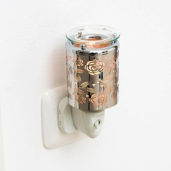 Pajoma - Elektrischer Duftstecker mit Duftschale - Metall - Rose