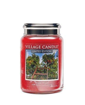 Village Candle - Large Glass Jar - Apple Wood