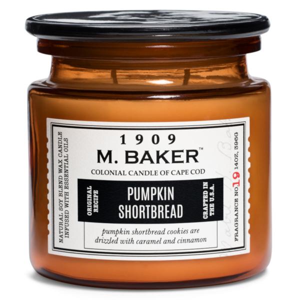 Colonial Candle - Mittlere Duftkerze im Glas - M. Baker - Pumpkin Shortbread