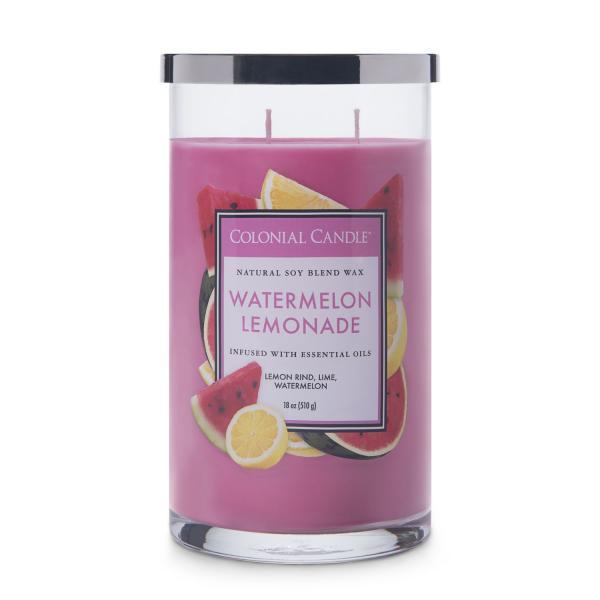 Colonial Candle - Große Duftkerze im Glas - Classic Cylinder - Watermelon Lemonade