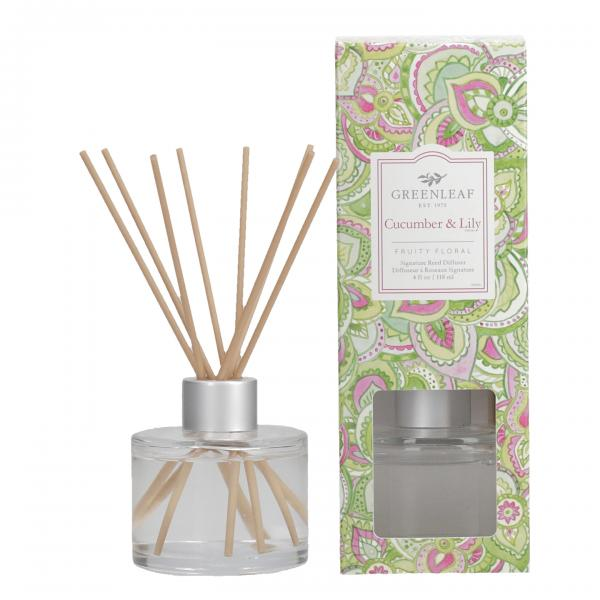 Greenleaf - Signature Reed Diffuser - Cucumber & Lily