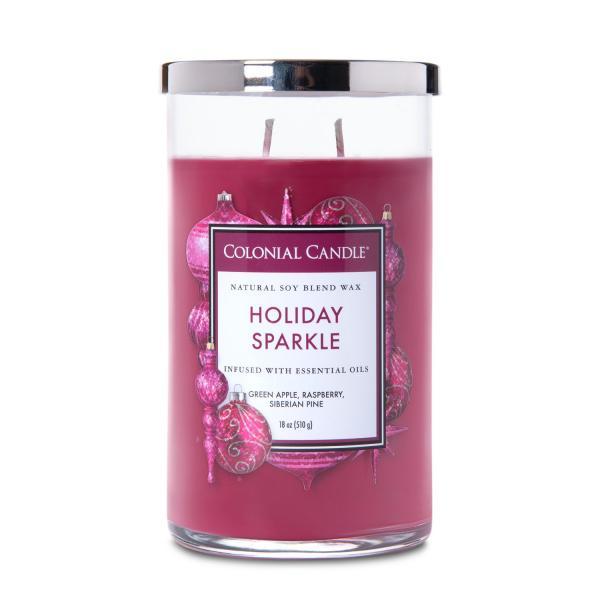 Colonial Candle - Große Duftkerze im Glas - Classic Cylinder - Holiday Sparkle