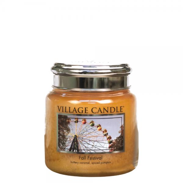 Village Candle - Medium Glass Jar - Fall Festival