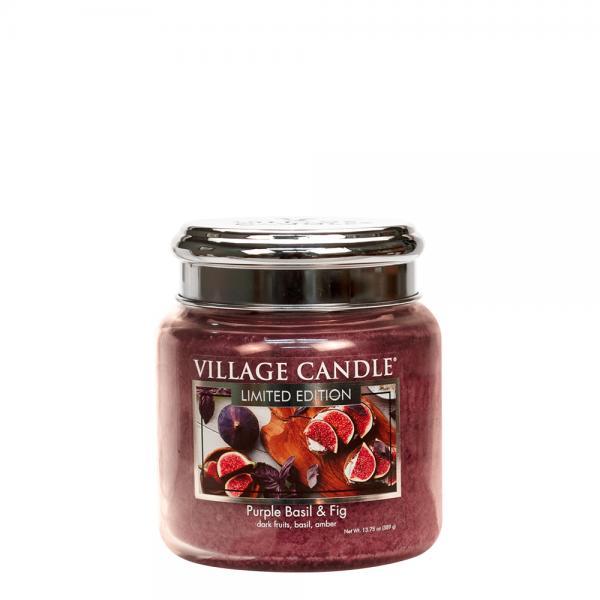 Village Candle - Medium Glass Jar - Purple Basil & Fig (LE)