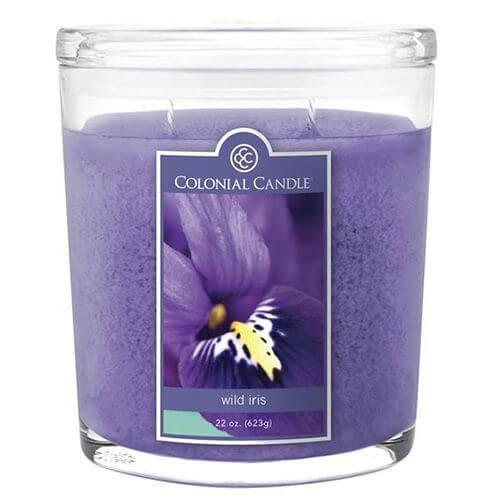 Colonial Candle - Große Duftkerze im Glas - Oval Collection - Wild Iris