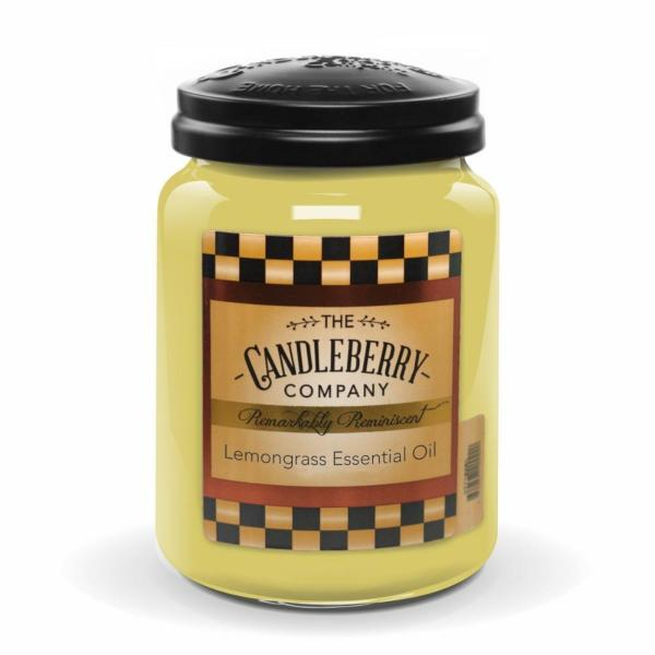 Candleberry - Duftkerze im Glas - Lemongrass Essential Oil
