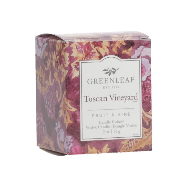 Greenleaf - Candle Cube Votivkerze - Duftkerze - Tuscan Vineyard
