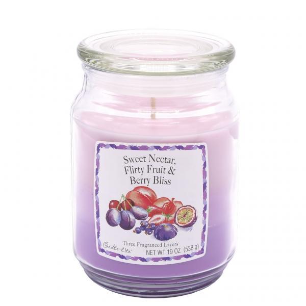 Candle-Lite Company - 3-Layer Duftkerze - Large Jar - Sweet Nectar, Flirty Fruits, Berry Bliss
