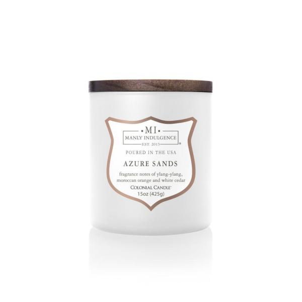 Colonial Candle - Mittlere Duftkerze im Glas - Manly Indulgence - White Azure Sands