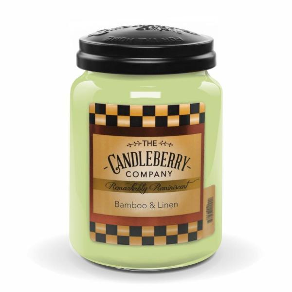Candleberry - Duftkerze im Glas - Bamboo & Linen