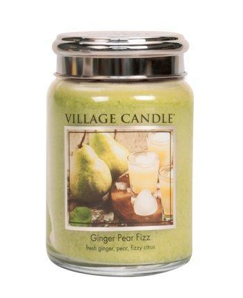Village Candle - Large Glass Jar - Ginger Pear Fizz