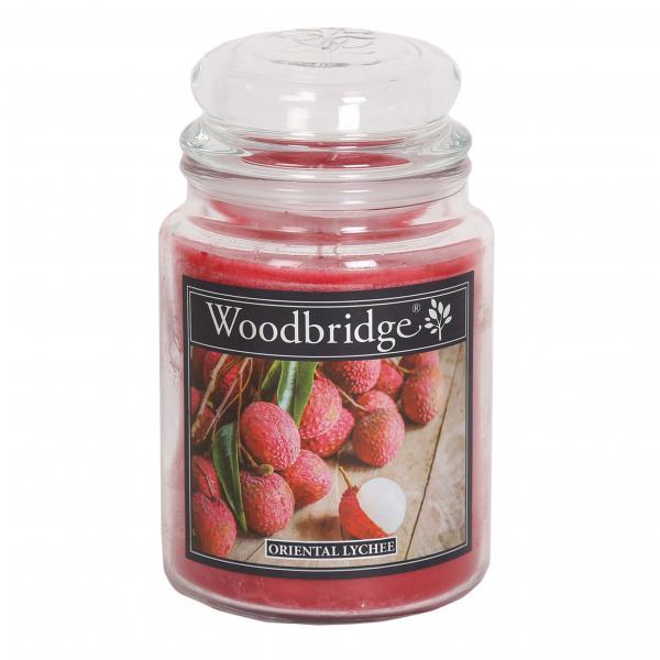 Woodbridge Candle - Große Duftkerze im Glas - Oriental Lychee