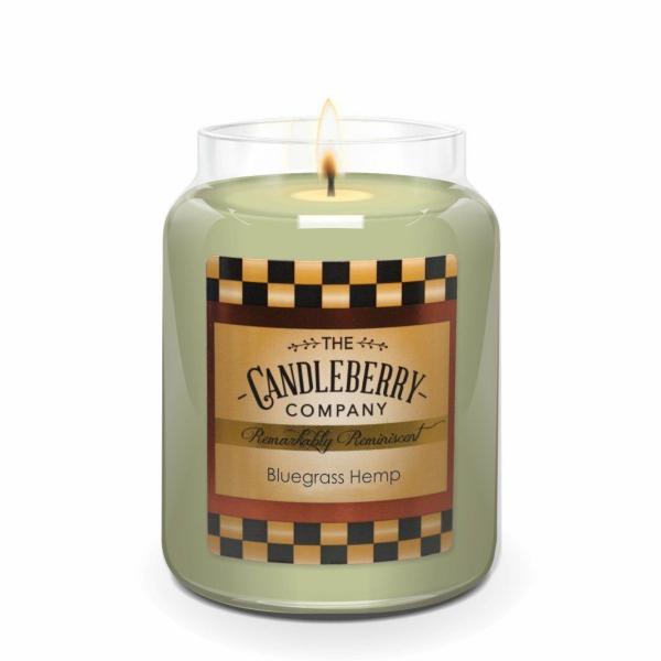 Candleberry - Duftkerze im Glas - Bluegrass Hemp