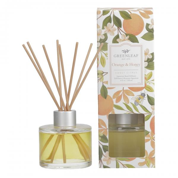 Greenleaf - Signature Reed Diffuser - Orange & Honey