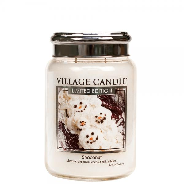Village Candle - Large Glass Jar - Snoconut (LE)