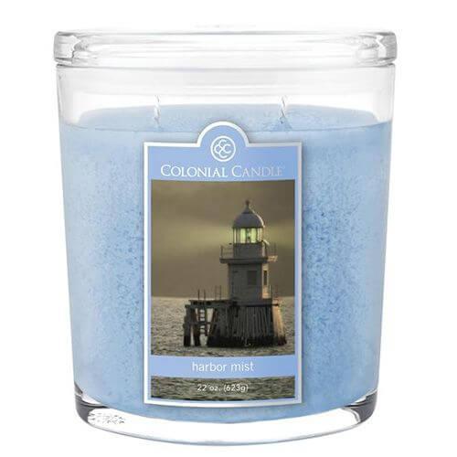 Colonial Candle - Große Duftkerze im Glas - Oval Collection - Harbor Mist