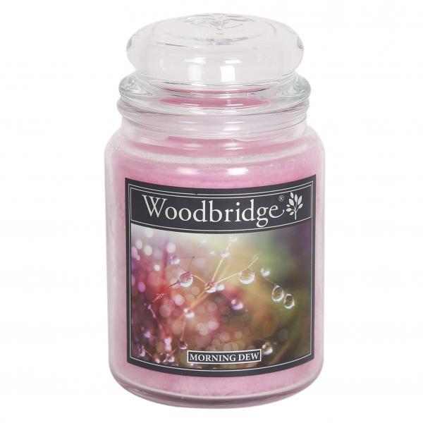 Woodbridge Candle - Große Duftkerze im Glas - Morning Dew