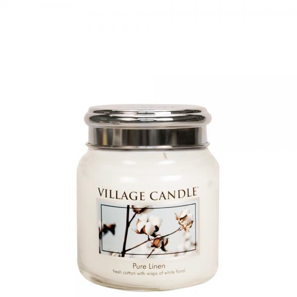 Village Candle - Medium Glass Jar - Pure Linen