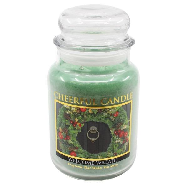 Cheerful Candle - Classic Large Jar - Duftkerze im Glas - Welcome Wreath