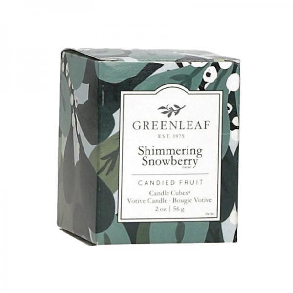 Greenleaf - Candle Cube Votivkerze - Duftkerze - Shimmering Snowberry Δ