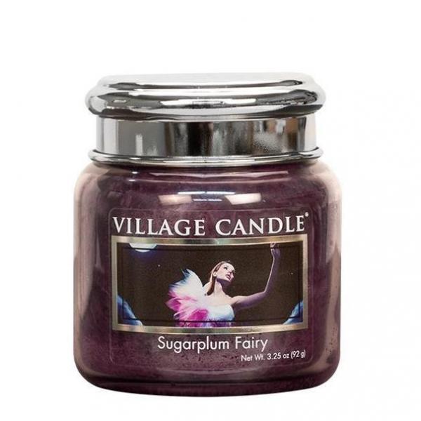 Village Candle - Medium Glass Jar - Sugarplum Fairy