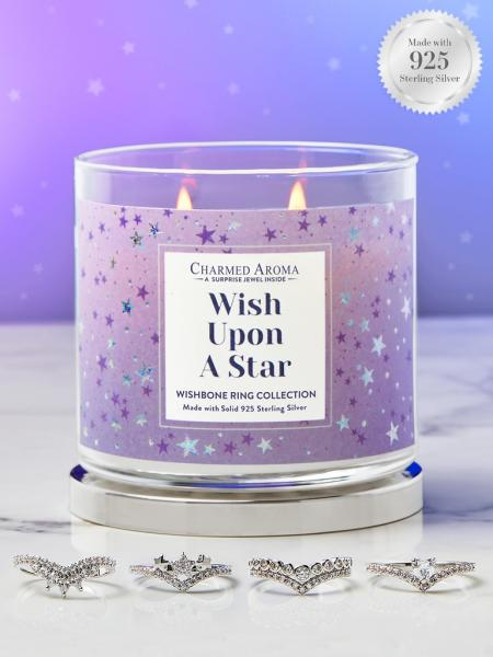 Charmed Aroma - Duftkerze mit Schmuck - Upon A Star (Ring)