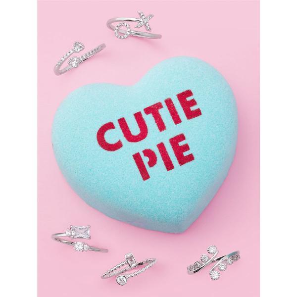 Charmed Aroma - Badebombe mit Schmuck - Cutie Pie Conversation Herz (Einstellbarer Ring)