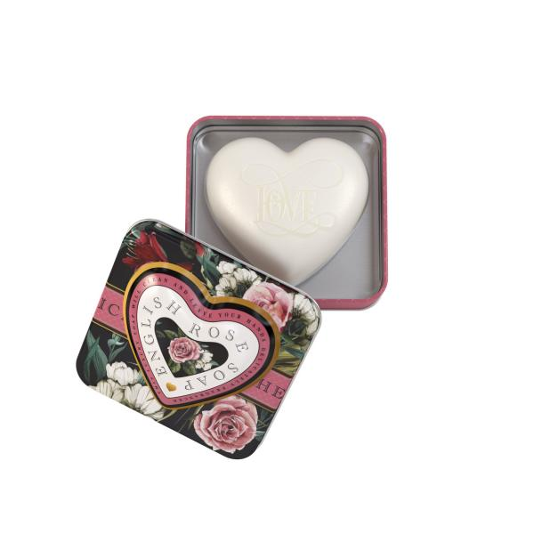 STC - Heart Shaped Tin Soap English Rose