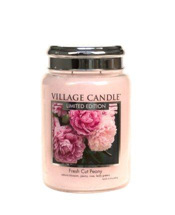 Village Candle - Large Glass Jar - Fresh Cut Peony (LE)