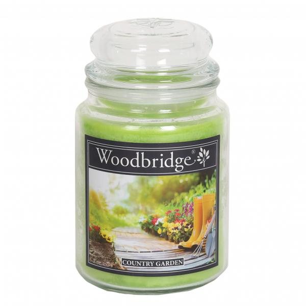 Woodbridge Candle - Große Duftkerze im Glas - Country Garden