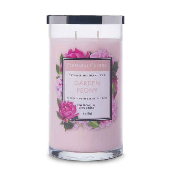 Colonial Candle - Große Duftkerze im Glas - Classic Cylinder - Garden Peony
