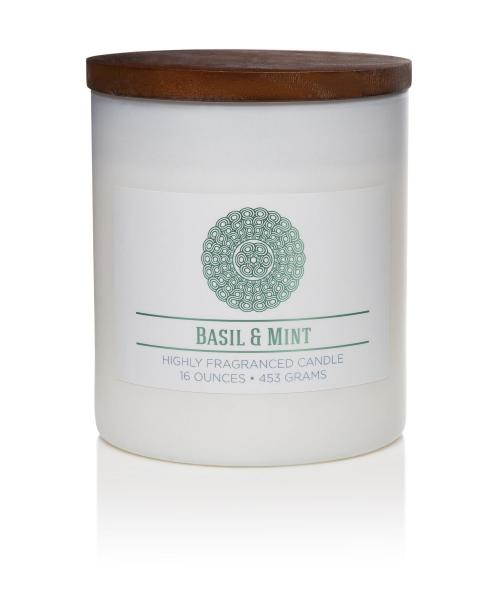 Colonial Candle - Mittlere Duftkerze im Glas - Wellness - Basil And Mint