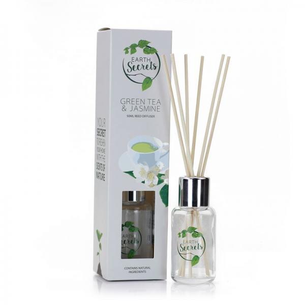 Ashleigh & Burwood - Earth Secrets - Mini Reed Diffuser - Green Tea & Jasmine