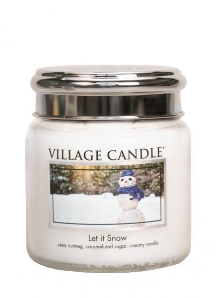 Village Candle - Medium Glass Jar - Let it Snow