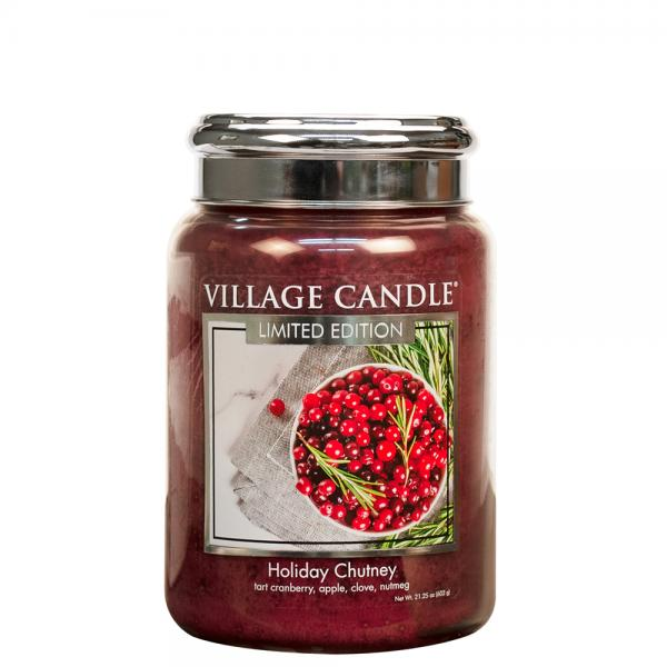 Village Candle - Large Glass Jar - Holiday Chutney (LE)