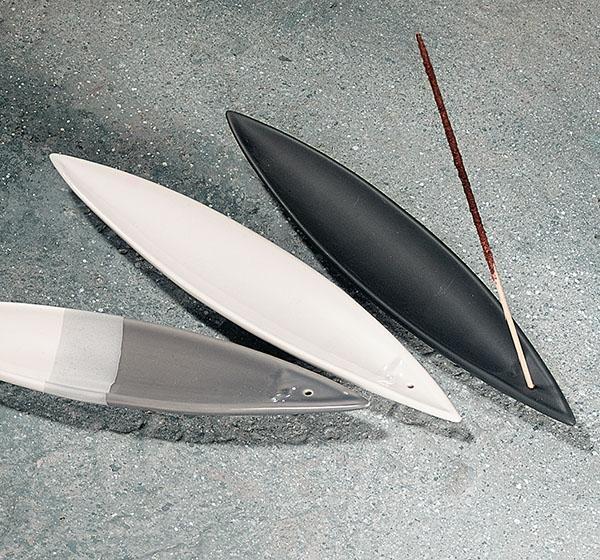 Pajoma - Räucherstäbchenhalter Kanu - Weiß