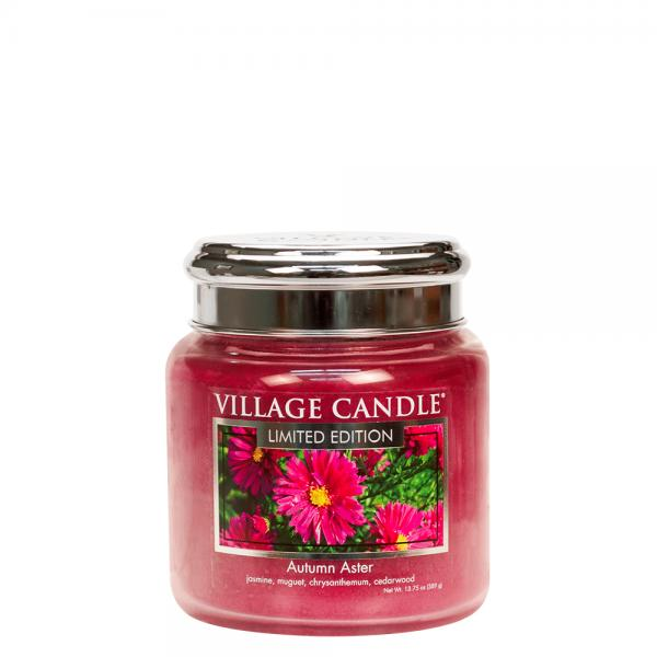 Village Candle - Medium Glass Jar - Autumn Aster (LE)