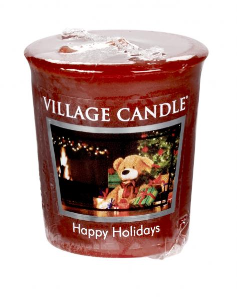 Village Candle - Votivkerze - Happy Holidays