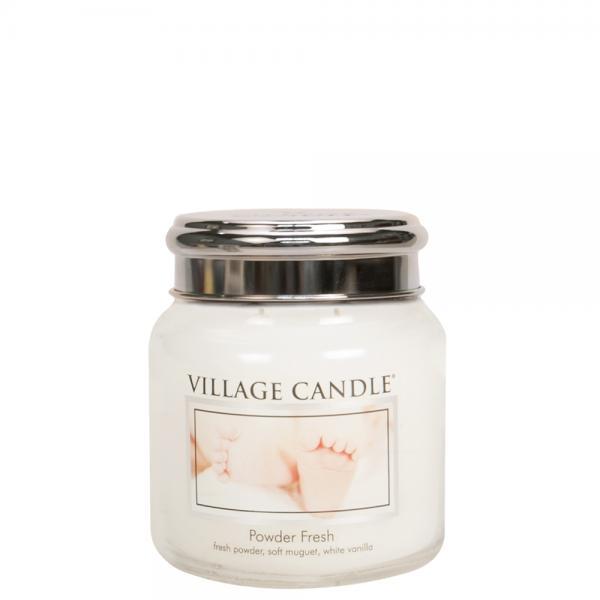 Village Candle - Medium Glass Jar - Powder Fresh