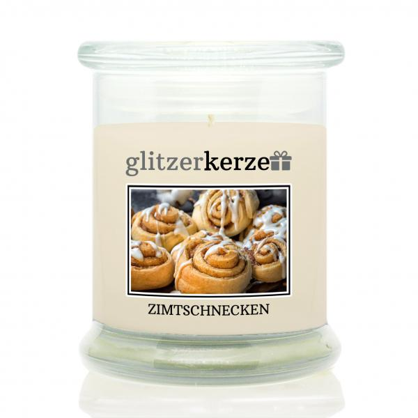 glitzerkerze - Duftkerze - Zimtschnecken